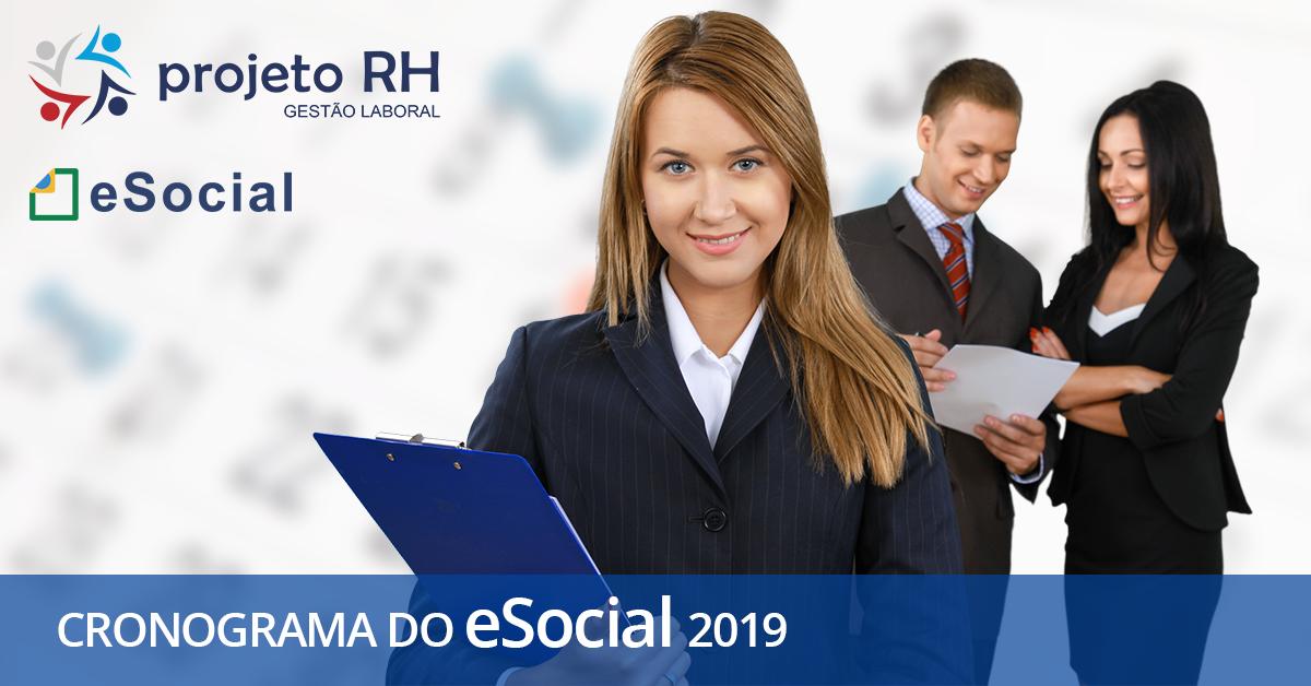eSocial empregador: veja o novo cronograma de entregas de 2019